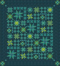 2016 Stars in the Night Quilt from Quilt Addicts Annonymous