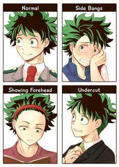 Deku hairstyles