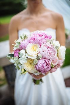 Pink peonies make us happy. Photography: Clay Austin Photography - www.clayaustinphotography.com, Floral Design: Carlos Rivas - facebook.com/pages/Carlos-Rivas-Interior-floral-design/176855825713603  Read More: http://www.stylemepretty.com/2014/05/08/traditional-hudson-river-wedding/