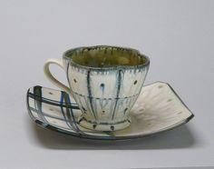 Jeffrey R. Kleckner by American Museum of Ceramic Art, via Flickr    Untitled cup, n.d.; porcelain, pale tan ash, celadon; Gift of Frieda Bradsher R2007.2.0102-103