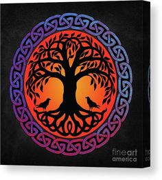 norse mythology Yggdrasil World Tree is silhouetted against the Sun, surrounded by Celtic knots, and kept company by Odins Ravens Huginn and , from Old Norse Yggdrasill, is an immense Viking Symbols, Viking Art, Runas Futhark, Tatto Viking, Yggdrasil Tattoo, Vikings, Old Norse, Celtic Tattoos, Tattoo Symbols