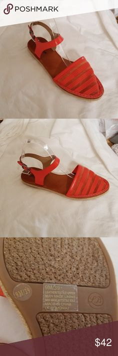 Women  closed Toe coral salmon Slingback Sandal For your consideration:  Lucky Brand  Women  closed Toe coral salmon Slingback Sandal size 9.5 M Lucky Brand Shoes Sandals
