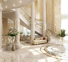 Check our selection of luxury interior design to inspire you for your next inter. - Home and Garden Decoration Luxury Interior, Home Interior Design, Interior Architecture, Interior And Exterior, Luxury Furniture, Royal Furniture, Mansion Interior, Classical Architecture, Rustic Furniture