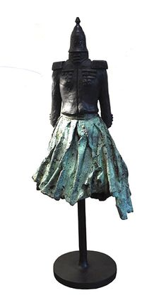 """Catherine Greene """"Military Dress"""" Bronze, unique, height Catherine Greene is a contemporary Irish figurative sculptor who works in bronze. Her sculpture is featured in many major collections of public art in Ireland. Military Dresses, Small Sculptures, List Of Artists, Bronze Sculpture, Public Art, Gallery, Fashion, Moda, Roof Rack"""