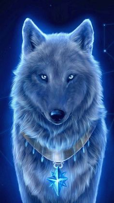 Wolf Wallpaper - My Wallpaper Mystical Animals, Mythical Creatures Art, Fantasy Creatures, Dark Fantasy Art, Fantasy Wolf, Beautiful Fantasy Art, Pet Anime, Anime Animals, Cute Animals