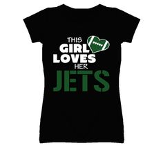 20ef8b0e5 Youth This Girl Loves Her Jets Football T-Shirt