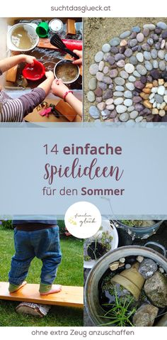 14 simple game ideas for the summer- 14 einfache Spielideen für den Sommer 14 easy game ideas for the summer – without buying extra stuff, games against boredom in the summer for children - Toddler Learning Activities, Summer Activities For Kids, Infant Activities, Family Activities, Games For Kids, Diy For Kids, Crafts For Kids, Diy Crafts, Summer Diy