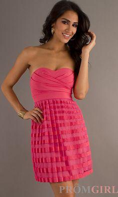 Short Strapless Sweetheart Dress