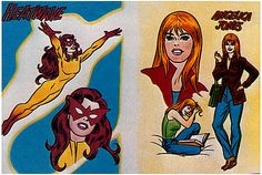 """Firestar, created for TV's """"Spiderman and His Amazing Friends,"""" 1981."""