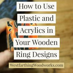 This is how you can use plastics and acrylics in your wooden ring designs. Most wooden rings are made from wood alone, but there are ways to add other materials… Handmade Beaded Jewelry, Wooden Jewelry, Diy Jewelry, Jewelry Making, Small Wooden Projects, Wood Projects, Ring Designs, Diy Rings Tutorial, Woodworking Books