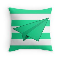 """Paper Airplane 42"" Throw Pillows by YoPedro 