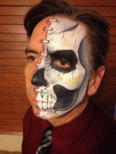 Half Skull- Face Painting by Jennifer VanDyke