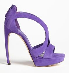 Alexander Mcqueen Armadillo Sandal Purple Shoes