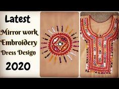 Mirror work design 2020, Mirror work dress design, Sindhi Barth design 2020, Mirror work Embroidery - YouTube Embroidery Suits Design, Shirt Embroidery, Embroidery Designs, Mirror Work Kurti Design, Punjabi Dress Design, Mirror Work Dress, Work Suits, Ladies Dress Design, Shirt Designs