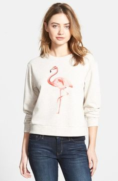 Ace Delivery Flamingo French Terry Sweatshirt $58.00