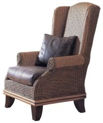 Bali Wing Chair Our Trademark Bali Collection has been a best-seller since the inception of Padma's Plantation. The classic shape blended with the natural texture of Herringbone Rattan Peel, Rattan Core, and solid Hardwood legs result in a collection that brings home a taste of the tropics.