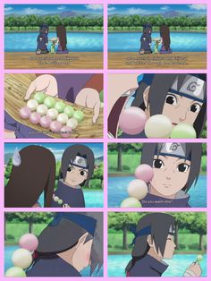 Aw the shame on his face lolzss, almost activated his Sharingan over the sweets!!