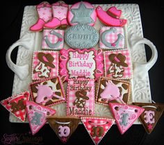 Maddie Cowgirl (2)-1 | Flickr - Photo Sharing! Cowgirl Birthday Cakes, Cowboy Cakes, Cowgirl Party, Birthday Cookies, Biscuit Cookies, Fun Cookies, How To Make Cookies, Cupcake Cookies, Decorated Cookies