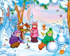 View album on Yandex. Winter Activities For Kids, Winter Crafts For Kids, Crafts For Kids To Make, Summer Crafts, Art For Kids, Merry Christmas Images, Winter Christmas, Snowmen Paintings, Christmas Card Background