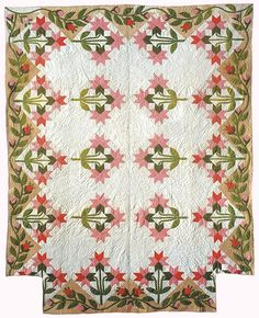 Peony Quilt. I love that it's made to go on a bed. Going to have to think about doing this!