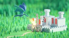 Mohamed Chahin talked about low poly artworks and shared the way he approaches his miniatures made in Blender. Low Poly Car, Dragon Illustration, Fantasy Castle, Fire Dragon, 3d Background, 3d Artist, Flat Color, Cool Lighting, Halloween Themes