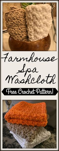 Beginner friendly free crochet pattern for thick, farmhouse spa washcloth