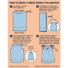 How to Make Dress from a Pillowcase, could be a top also...I have a ton of pillowcases