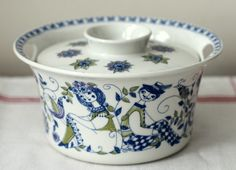 Blue Pottery, Sugar Bowl, Bowl Set, China, Dishes, Tableware, Vintage, Jars, Dinnerware