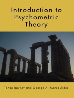 Introduction to psychometric theory (eBook, [University of Nebraska Omaha] Psychological Testing, Kindle, Practice Exam, Spiritual Development, State Art, Critical Thinking, Assessment, Psychology, University