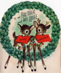 Marjorie Cooper Rust Craft Reindeer Deer Wreath Bell VTG Christmas Greeting Card $3.50. Thank you for checking out my auction. I have a very large collection of vintage greeting cards that I will be listing over the next several months. I primarily have Christmas cards, both new and used. Please feel free to email me with any questions and feel free to follow my auctions. I am happy to combine shipping costs to save you money. Thanks again for visiting my store and please stop by again…