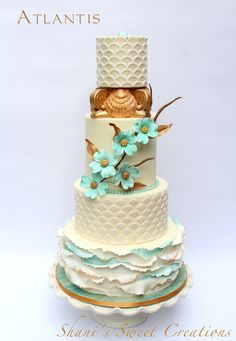 This is a gallery of wedding cake created by Shani's Sweet Art. Containing many different styles and colors of wedding cakes