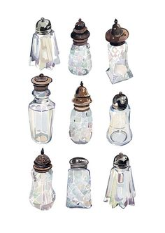 Vintage Sugar-shakers. Holly Exley. (I could look at her stuff all day long.)