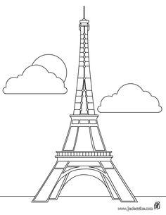 Coloriage de la Tour Eiffel à Paris