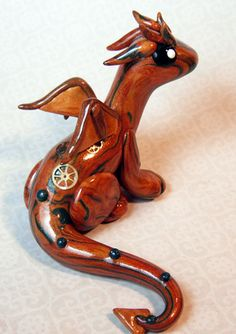 Steampunk Dragon polymer clay