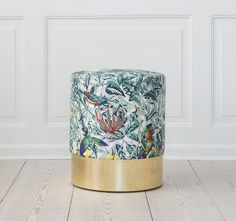 Azucena stool with Hermes textile / theapartment.dk