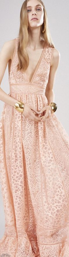 Elie Saab Resort 16: blush maxi dress.