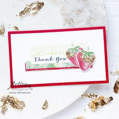 Stampin Up, Berries, Blessed, Strawberry, Apple, Mini, Sweet, Cards, Blessings