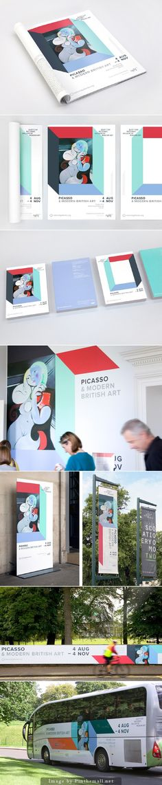 Picasso & Modern British Art Exhibition Identity & Signage for National Galleries. This project is a collaboration with BERG Studio