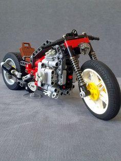 LEGO TECHNIC MOTORCYCLES: Radial Engine Motorcycle by Nikolyakov