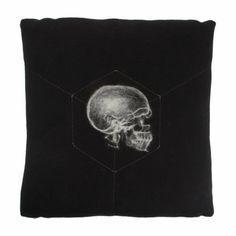 absolutely Gorgeous! Studio DKS Right-Facing X-Ray Skull Pillow at Barneys.com Skull Pillow, Wool Felting, Skull And Crossbones, Cushions, Pillows, Cashmere Wool, Cloth Bags, Absolutely Gorgeous, Skulls