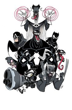 Venomverse #1 (2017) Variant Cover by Gustavo Duarte
