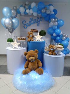 Dr Seuss Baby Shower, Teddy Bear Baby Shower, Baby Boy Shower, Diy Birthday Decorations, Balloon Decorations, Unique Baby Shower Themes, Baby Shawer, Baby Shower Cookies, Baby Shower Balloons