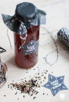 Geschenke aus der Küche: Chai-Tee-Sirup und alle Labels als free printables! Mehr