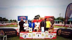 CONCURSO INTERNACIONAL de AGILITY DOG SEXTUPLE en Elechas, Cantabria, Podium de ganadores.