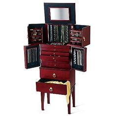 Gold Silver Safekeeper AntiTarnish Jewelry Armoire by Lori