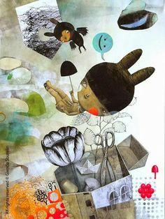 Photo in Illustrazioni - Glenda Sburelin Glenda, Bird Artwork, Art Corner, Children's Picture Books, Ad Art, Book Themes, Mixed Media Collage, Children's Book Illustration, Haha