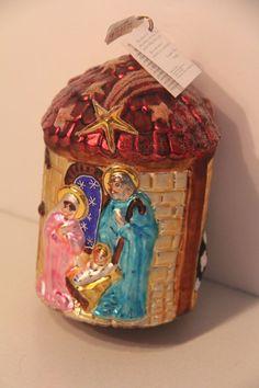 CHRIS RADKO ORNAMENT CHRISTMAS MANGER JESUS MARY JOSEPH XMAS RELIG CATH NATIVITY Radko Ornaments, Nativity Ornaments, Christmas Ornaments, Christmas Manger, Xmas, Jesus Mary And Joseph, Decorative Boxes, Births, Nativity Scenes