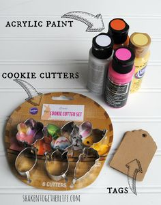 Quick and easy cookie cutter gifts tags!