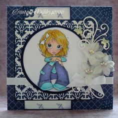A Scrapjourney: Recipe Time.  beautiful card, love the flowers and the butterfly pins.