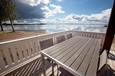 View from the porch of the lakeside sauna to Vesijärvi.